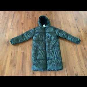 New OLD NAVY Camo Long Puffer Coat XXL 18 Plus